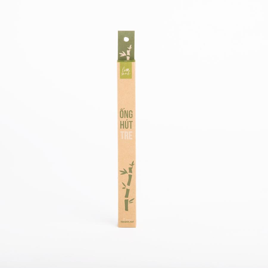 Hộp 2 ống hút tre Bamboo Straws (1 ống Trà sữa + 1 ống Cafe)