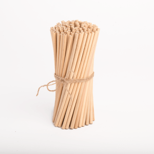 Bunch of 100 bamboo straws (Cafe tube)