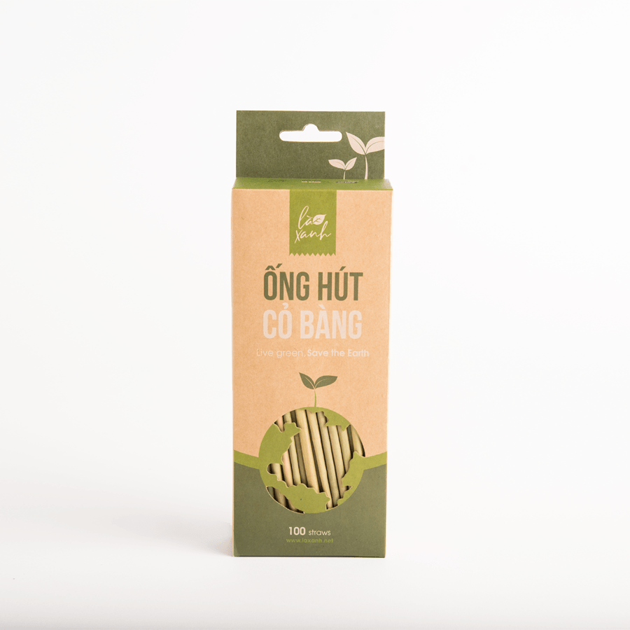 Box of 100 Grass straws (Cafe tubes)