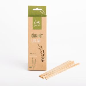 Hộp 50 ống hút cỏ lúa mì Wheat Straws (Ống Cafe)
