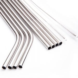 Order wholesale 6mm curved Inox straw (Cafe pipes)