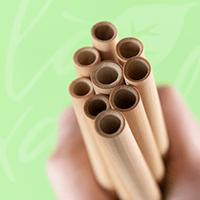 Hộp 10 ống hút tre Bamboo Straws