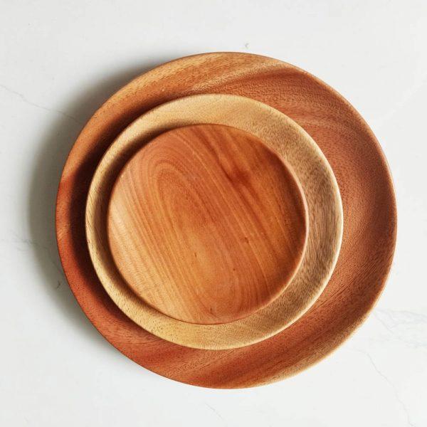 đĩa gỗ đẹp - khay gỗ đựng đồ ăn, trang trí, decor, chử nhật, tròn 1