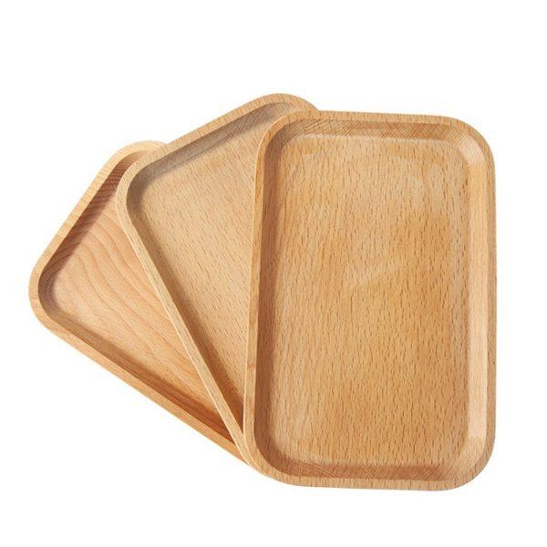 Khay Gỗ đựng đồ ăn, đĩa Gỗ đẹp, Khay Gỗ Tròn, , Khay Gỗ Trang Trí , Decor 3, Chữ Nhật 3