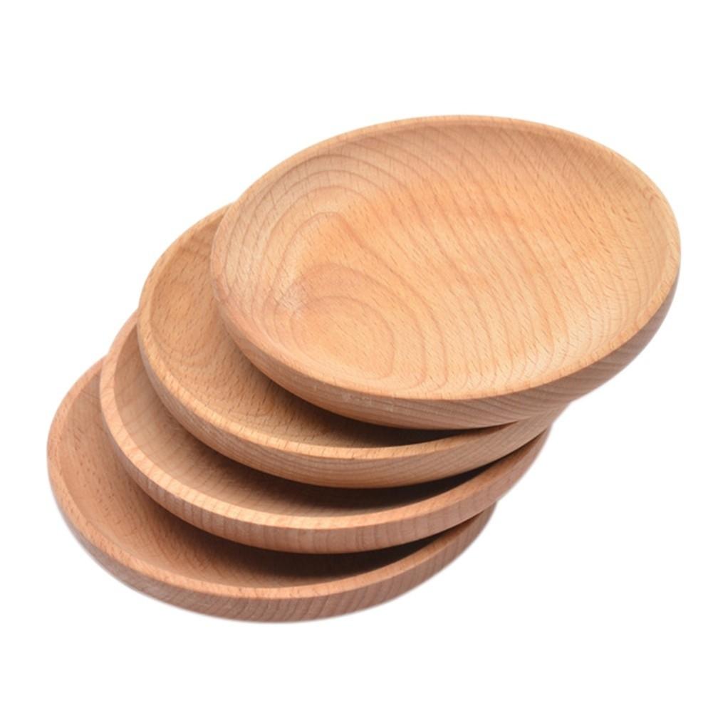 Khay Gỗ đựng đồ ăn, đĩa Gỗ đẹp, Khay Gỗ Tròn, , Khay Gỗ Trang Trí , Decor 3