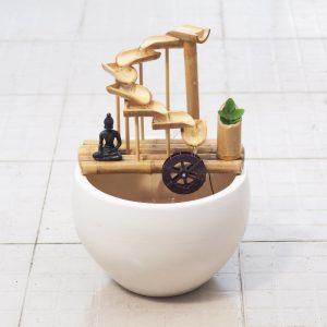 Thác Nước Phong Thủy Để Bàn Bằng Tre – Tuyệt Phẩm Handmade