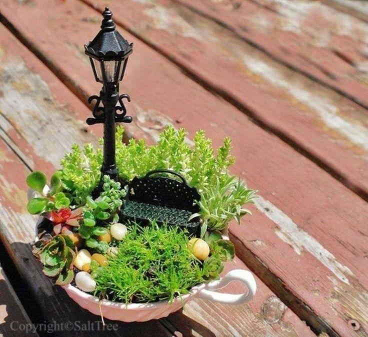 08 Relaxing In Central Park Miniature Garden Ideas Homebnc