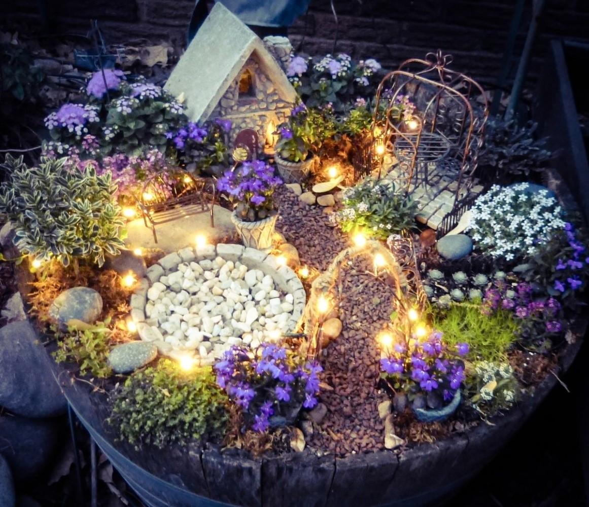 12 Some Enchanted Evening Fairy Garden Ideas Homebnc